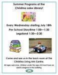 Summer Programs at Christina Lake Library @ Christina Living Arts Centre