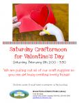 Saturday Crafternoon - Valentine's Day @ Grand Forks and District Public Library