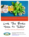 Cook the Books Bookclub - Oven to Table @ Grand Forks and District Public Library