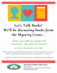 Virtual Bookclub - Let's Talk About Mysteries! @ Grand Forks and District Public Library