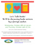 Virtual Bookclub - October 2020 @ Grand Forks and District Public Library