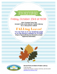 Virtual Storytime - FALLing Leaves! @ Grand Forks and District Public Library
