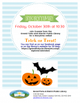 Virtual Storytime - Trick or Treat! @ Grand Forks and District Public Library